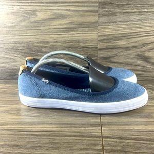 Keds bryn chambray denim slip on shoes NWOB